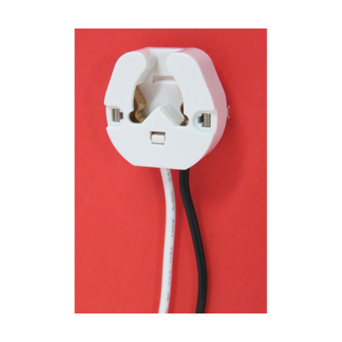 BI-PIN FLUORESCENT LAMP SOCKET, BUTT-ON