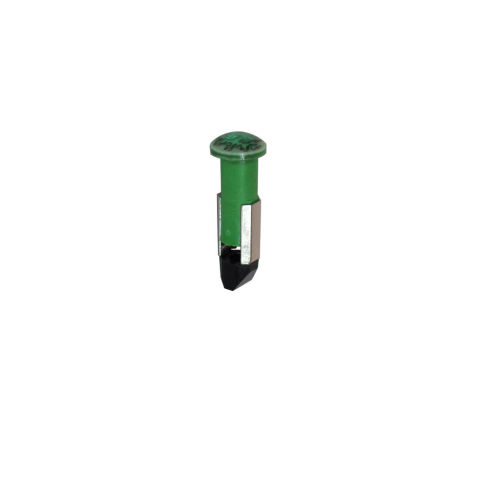 120VAC GREEN LED -- SLIDE BASE LAMP