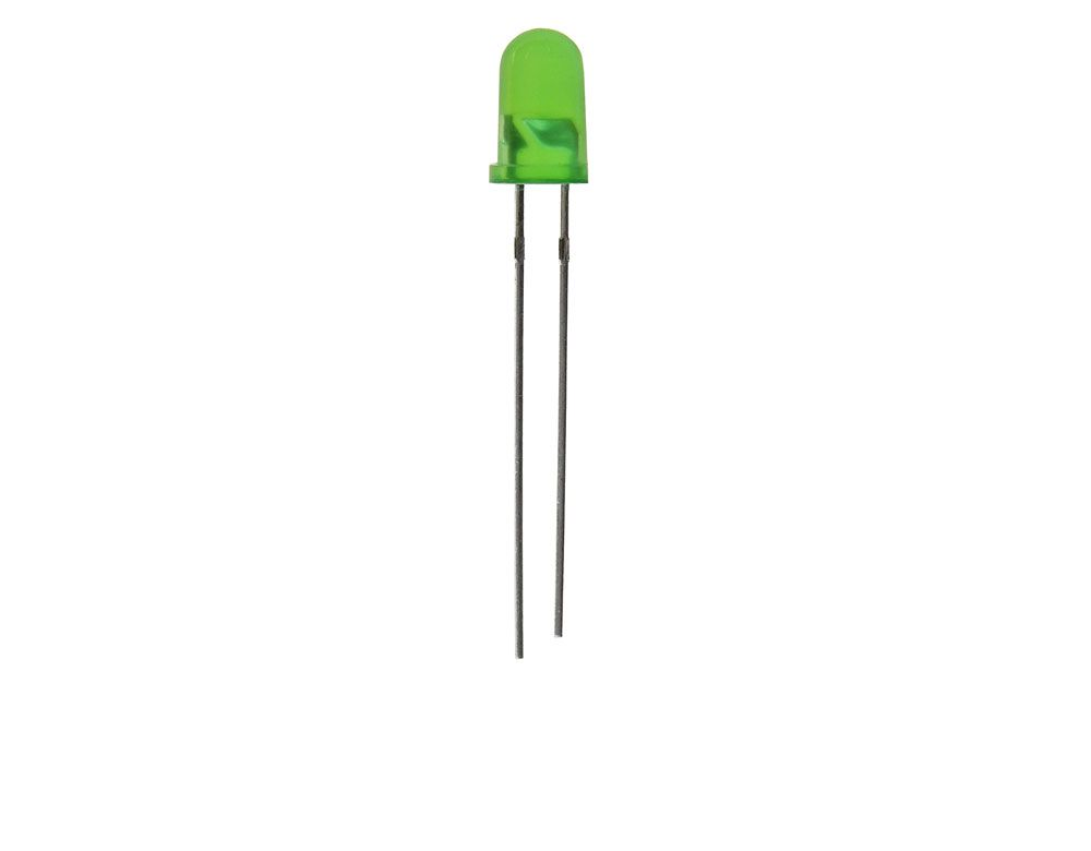 GREEN 5MM T1 3/4 LED