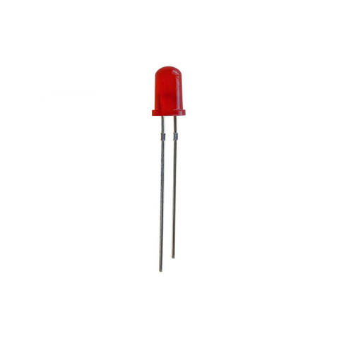 RED FLASHER LED, T-1 3/4