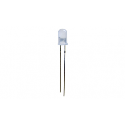 WHITE FLASHING LED, 5MM