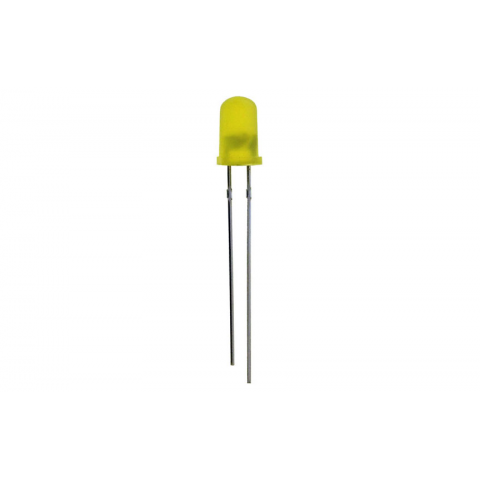 YELLOW FLASHER LED, T1 3/4