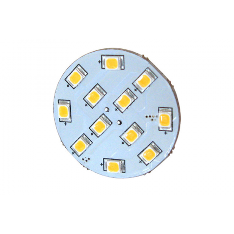 WARM WHITE 12-LED ASSEMBLY, 12V AC OR DC