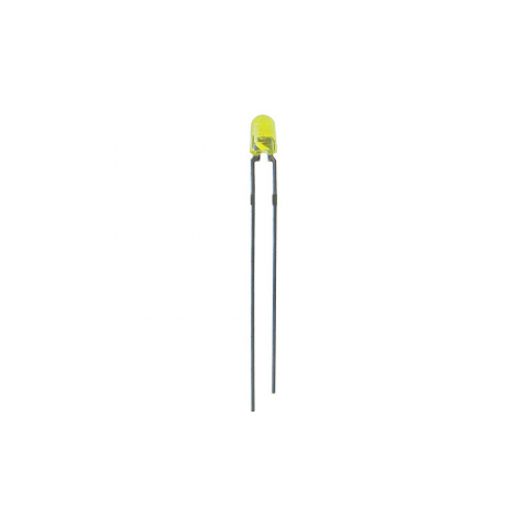 SPECIAL 3MM YELLOW POINT-SOURCE LED, FLANGELESS