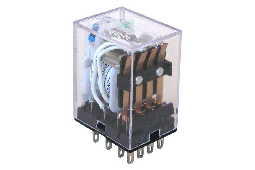 "12VDC 4PDT 3A ""ICE CUBE"" RELAY"