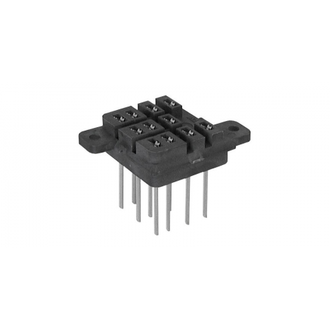 KU RELAY SOCKET, LONG PINS