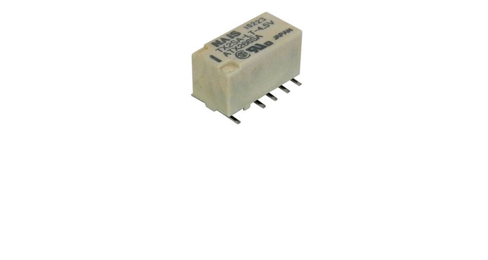 4.5 VDC DPDT LATCHING RELAY, SURFACE-MOUNT