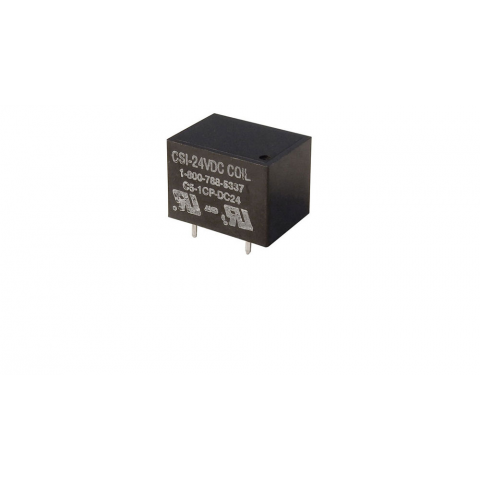 24VDC, SPDT 10A RELAY, PC MOUNT