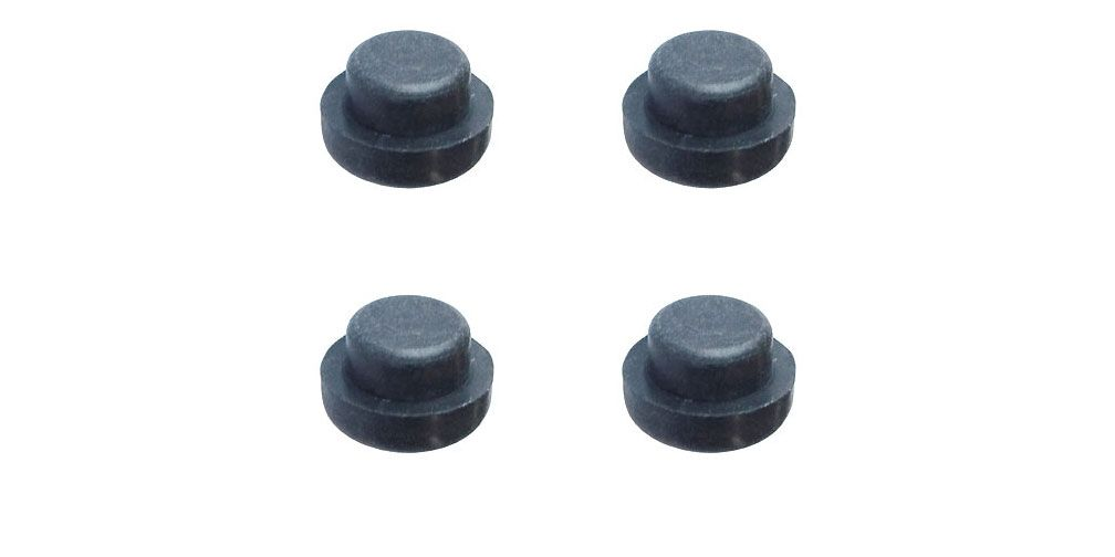"1/2"" BLACK RUBBER FEET, 4 PIECES"