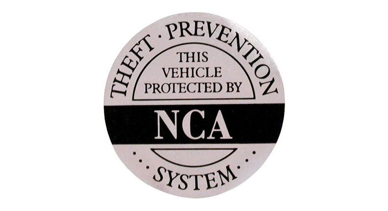 VEHICLE SECURITY STICKER