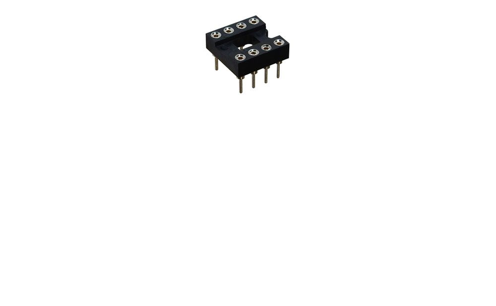 HIGH RELIABILITY 8 PIN SOCKET