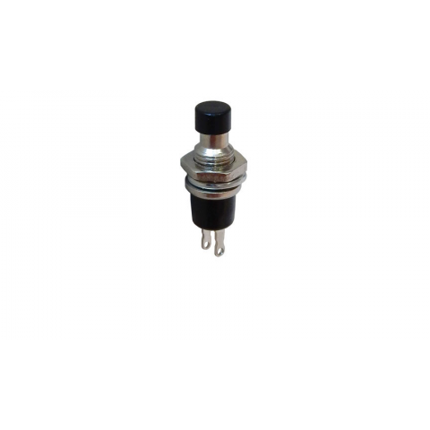 SPST N.C. MOMENTARY PUSHBUTTON, BLACK