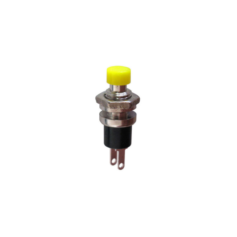Momentary Square Push Button Switch 12mm SPST 5 x Yellow Off- On