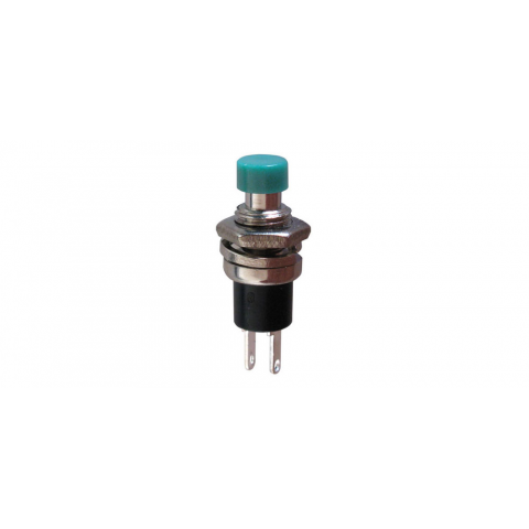 SPST N.O. MOMENTARY PUSHBUTTON, GREEN
