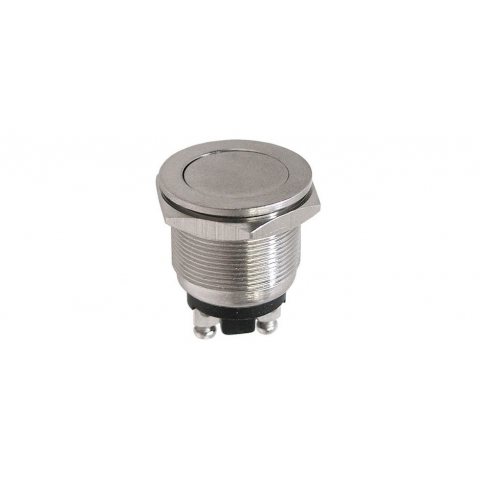 HD METAL PUSHBUTTON, FLAT-MOMENTARY, N.O.