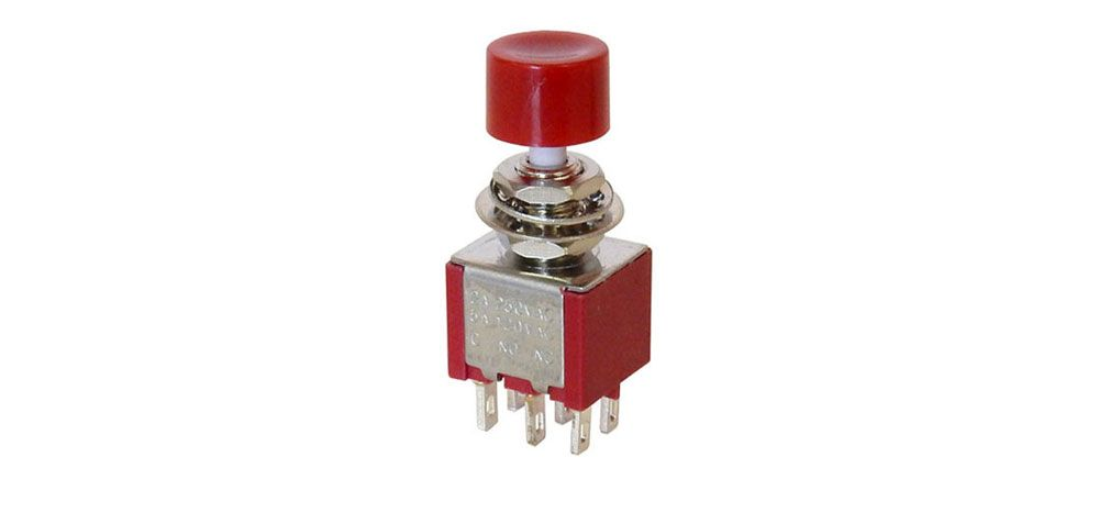 DPDT MOMENTARY PUSHBUTTON