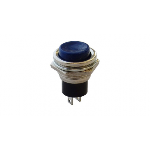 N.C. MOMENTARY PUSHBUTTON, BLUE
