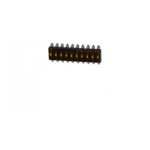10 POSITION DIP SWITCH, SURFACE MOUNT
