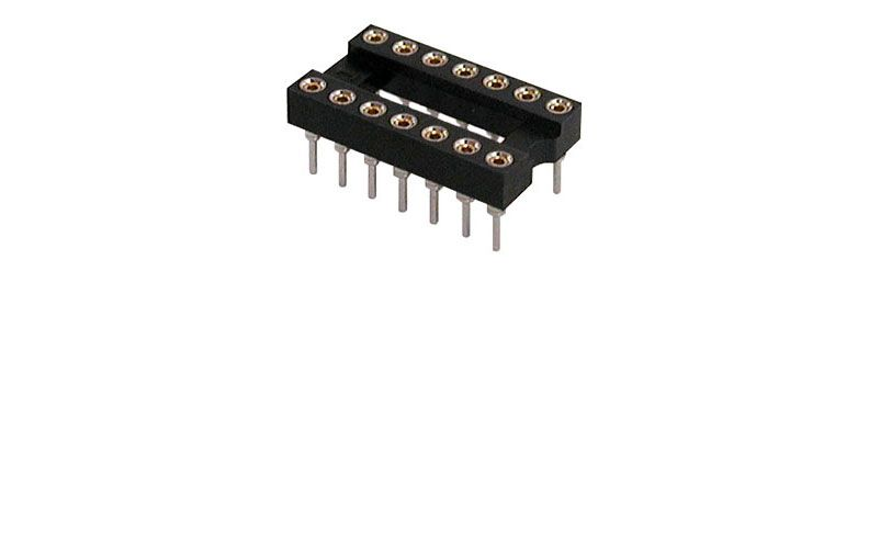 HIGH RELIABILITY 14 PIN IC SOCKET
