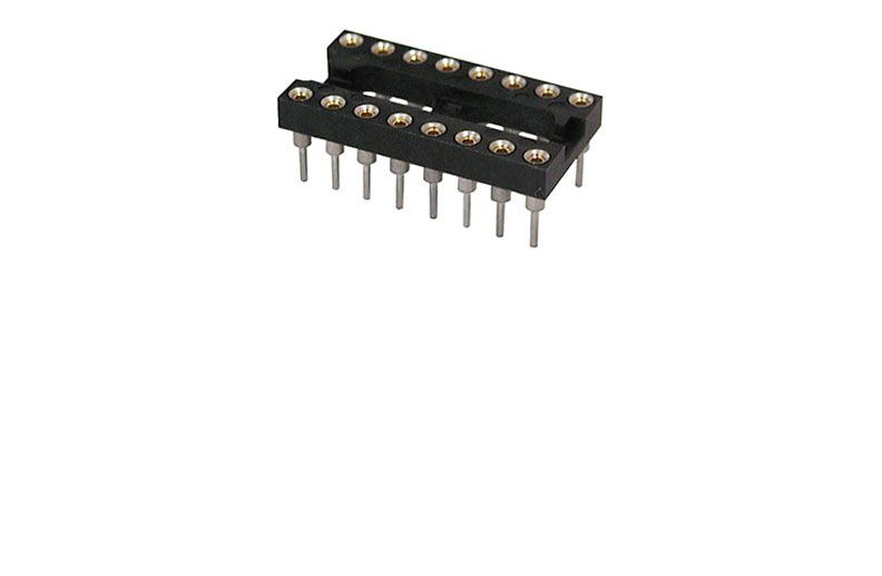 HIGH RELIABILITY 16 PIN IC SOCKET