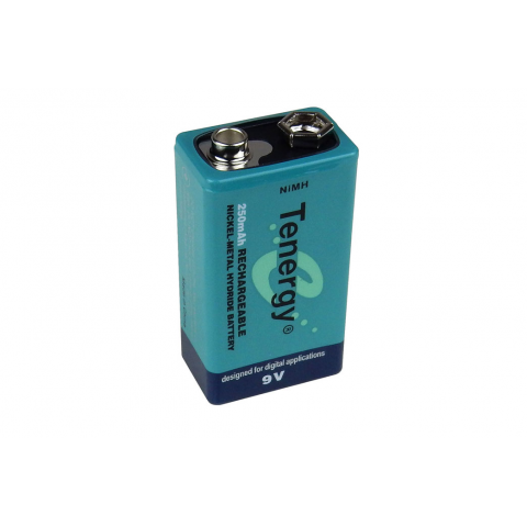 9V 250 MAH NIMH RECHARGEABLE BATTERY