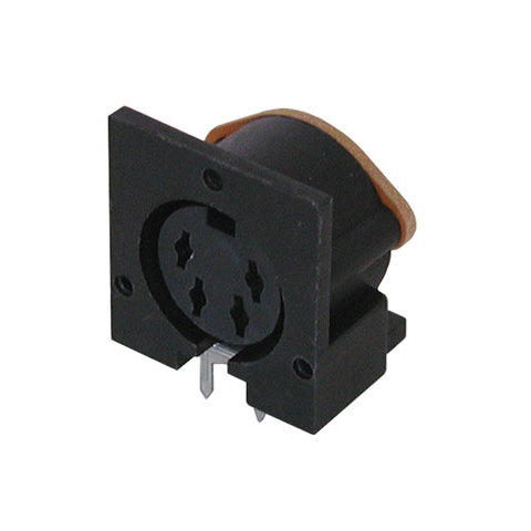 4 PIN FEMALE DIN JACK, PC MOUNT