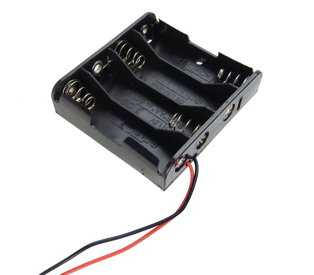 BATTERY HOLDER, 4 AA CELLS