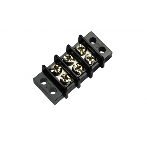 3-POSITION DUAL-ROW STRIP, 20 AMP
