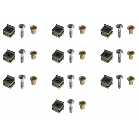 MOUNTING HARDWARE FOR SERVOS, SET OF 10
