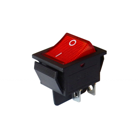 DPST LIGHTED ROCKER SWITCH, 120VAC