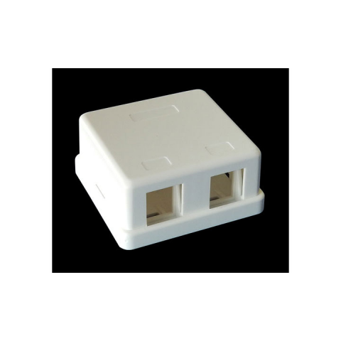 2-PORT SURFACE-MOUNT BOX FOR KEYSTONE JACKS, WHITE