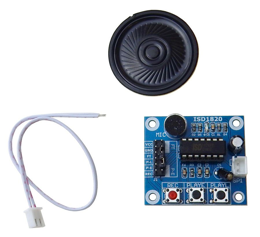 ISD1820 VOICE RECORD/PLAY MODULE WITH SPEAKER
