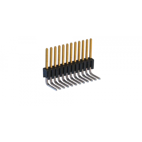 "12-PIN MICRO-HEADER, RIGHT-ANGLE 0.050"" CENTERS"