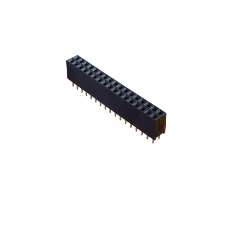 "34 PIN (2X17) DUAL ROW HEADER SOCKET, 0.1"" SPACING"