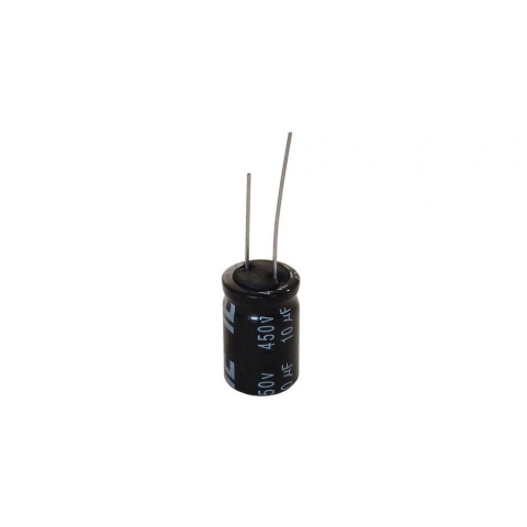 10 MFD 450 V RADIAL, 105C ELECTROLYTIC CAPACITOR