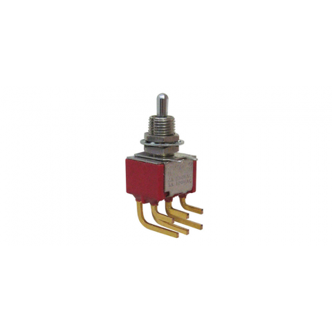 DPDT MINI-TOGGLE SWITCH, ON-OFF-ON