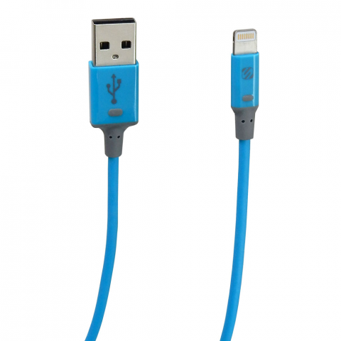 3' CHARGE & SYNC APPLE LIGHTNING CABLE, BLUE