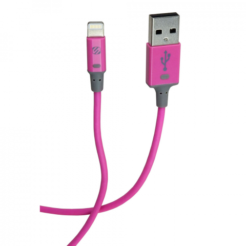 3' CHARGE & SYNC APPLE LIGHTNING CABLE, PINK