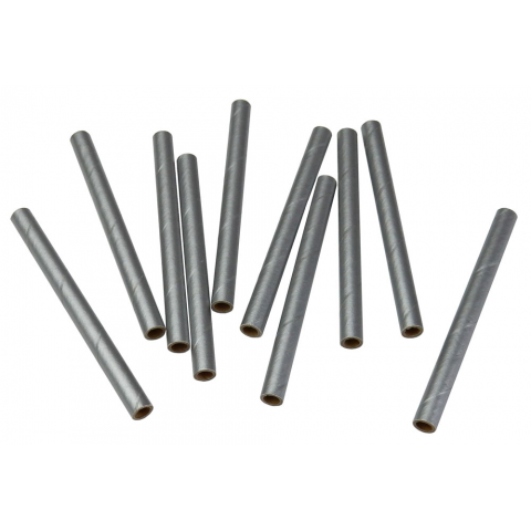 SMALL METALLIC-COLORED CARDBOARD TUBES