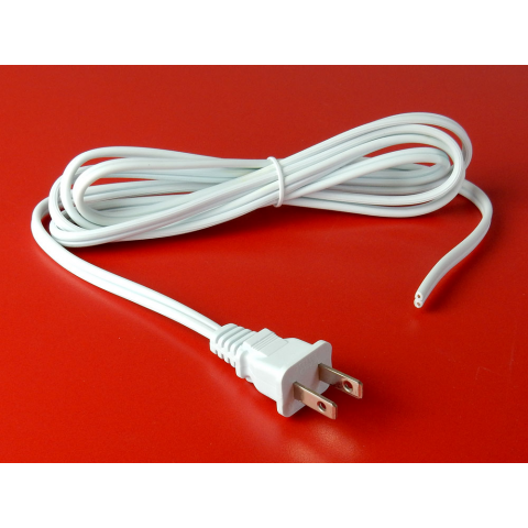 6' WHITE 18/2 POWER CORD