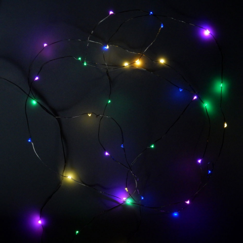 32' FLASHING MULTI-COLOR MINI-LED STRING, WATERPROOF