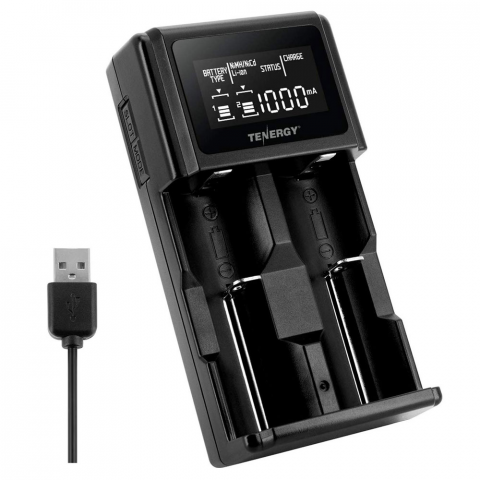 2-BAY UNIVERSAL CHARGER FOR LI-ION/NIMH BATTERIES