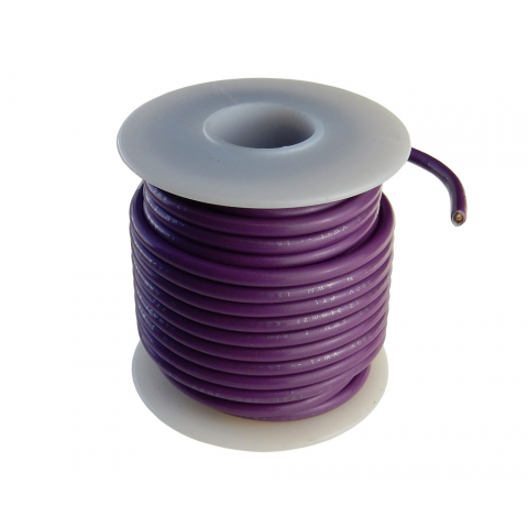 12 GA STRANDED PURPLE WIRE, 25'