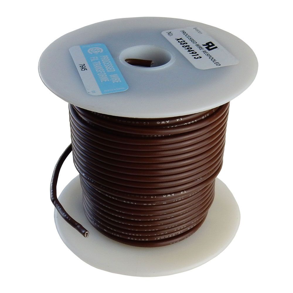 16 GA BROWN HOOK UP WIRE, STRANDED, 100'