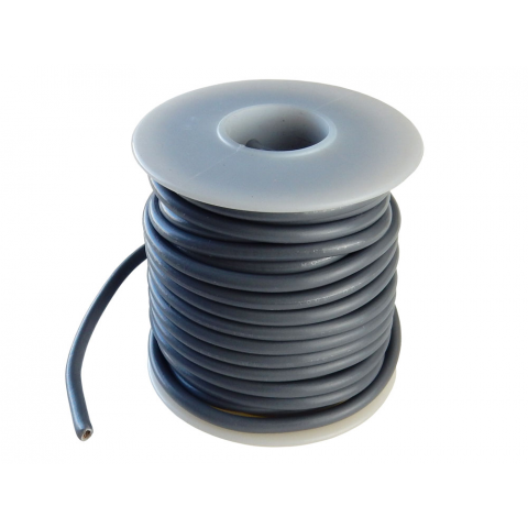12 GA STRANDED GRAY WIRE, 25'