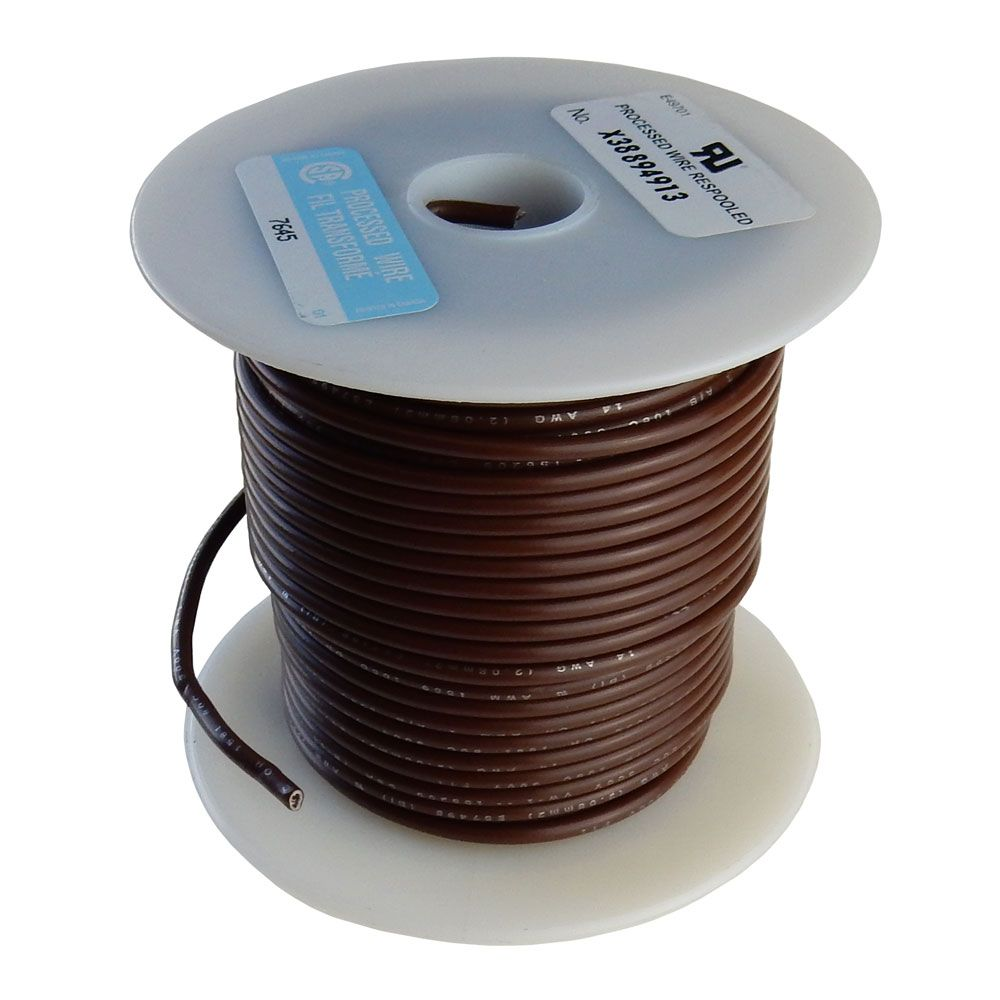 14 GA STRANDED BROWN HOOK WIRE, 100'