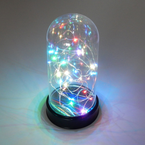 "30 LED MULTICOLOR STRING LIGHT IN 9"" DOME"