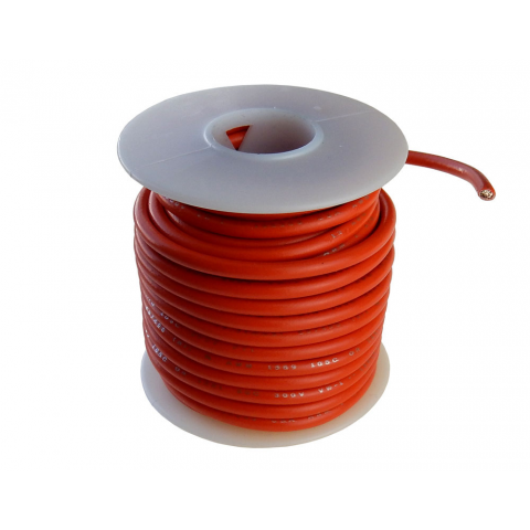 16 GA STRANDED ORANGE HOOK UP WIRE, 25'