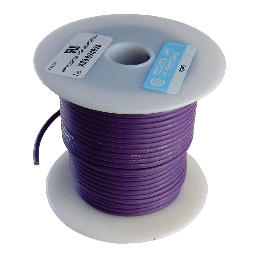 16 GA PURPLE HOOK UP WIRE, STRANDED, 100'