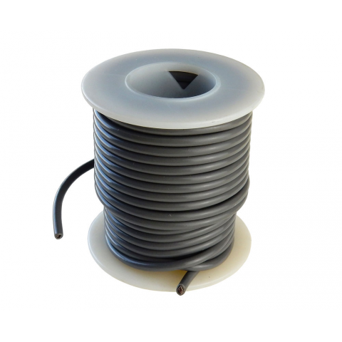 16 GA STRANDED GRAY HOOK UP WIRE, 25'
